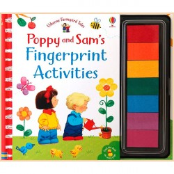 Детская книга-раскраска Usborne Poppy and Sam's Fingerprint Activities