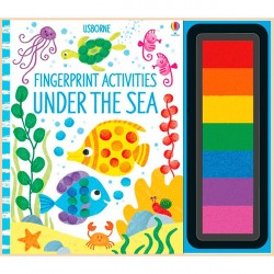Детская книга-раскраска Usborne Fingerprint Activities: Under the Sea