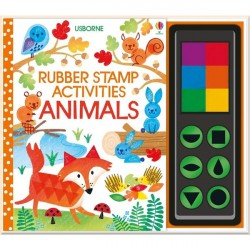 Детская книга-раскраска Usborne Rubber Stamp Activities Animals