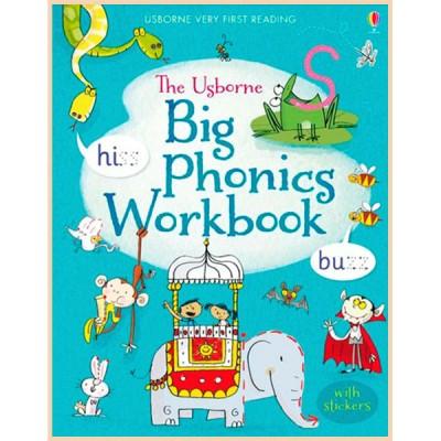 Детская книга со стикерами Usborne Big Phonics Workbook (Very First Reading)
