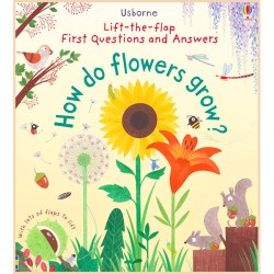 Детская познавательная книга Usborne Lift-the-Flap First Questions and Answers How Do Flowers Grow?