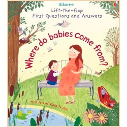 Детская познавательная книга Usborne Lift-the-Flap First Questions and Answers Where Do Babies Come From?