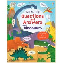 Детская познавательная книга Usborne Lift-the-Flap Questions and Answers about Dinosaurs
