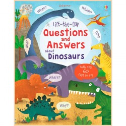 Детская познавательная книга Usborne Lift-the-Flap Questions and Answers about Dinosaurs