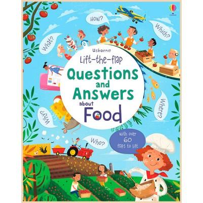 Детская познавательная книга Usborne Lift-the-Flap Questions and Answers about Food