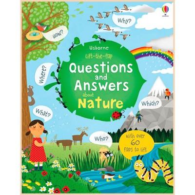 Детская познавательная книга Usborne Lift-the-flap Questions and Answers about Nature