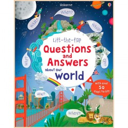 Детская познавательная книга Usborne Lift-the-Flap Questions and Answers About Our World