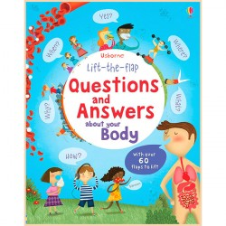 Детская познавательная книга Usborne Lift-the-Flap Questions and Answers about Your Body