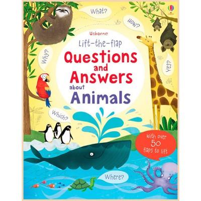 Детская познавательная книга Usborne Lift-the-Flap Questions and Answers about Animals