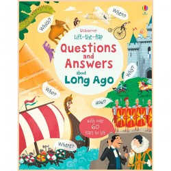 Детская познавательная книга Usborne Lift-the-flap Questions and Answers about Long Ago