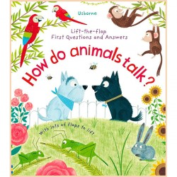 Детская познавательная книга Usborne Lift-the-Flap First Questions and Answers How Do Animals Talk?