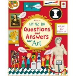 Детская познавательная книга Usborne Lift-the-Flap Questions and Answers about Art