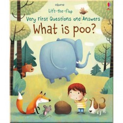 Детская познавательная книга Usborne Lift-the-Flap First Questions and Answers What is Poo?