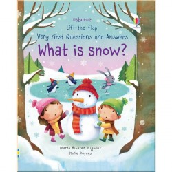 Детская познавательная книга Usborne Lift-the-Flap Very First Questions and Answers What is Snow?