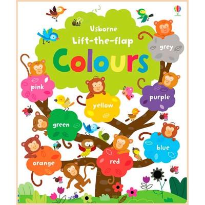 Детская обучающая книга Usborne Lift-the-Flap Colours Book (с окошками)