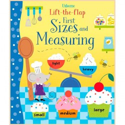Детская обучающая книга Usborne Lift the Flap First Sizes and Measuring (с вкладышами)