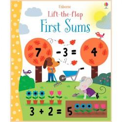 Детская обучающая книга Usborne Lift-the-Flap First Sums (с вкладышами)
