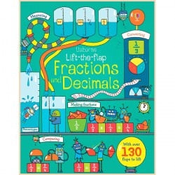 Детская обучающая книга Usborne Lift the Flap  Fractions and Decimals (с вкладышами)