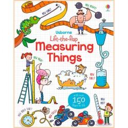 Детская обучающая книга Usborne Lift the Flap Measuring Things (с вкладышами)