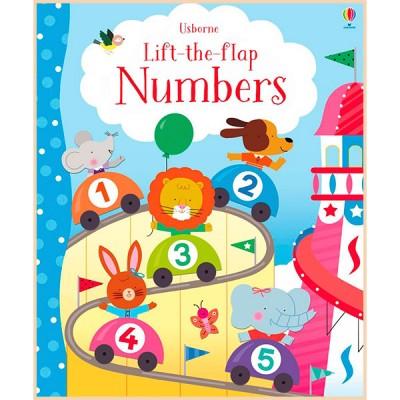 Детская обучающая книга Usborne Lift-the-Flap Numbers (с окошками)
