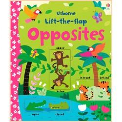 Детская обучающая книга Usborne Lift the Flap Opposites (с окошками)