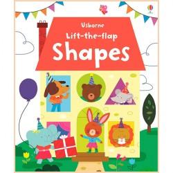 Детская обучающая книга Usborne Lift the Flap Shapes (с окошками)