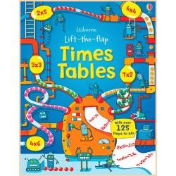 Детская обучающая книга Usborne Lift-the-flap Times Tables Book (с вкладышами)