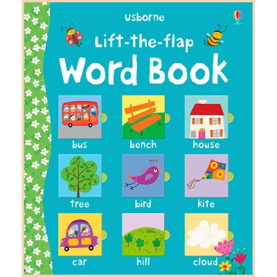 Детская обучающая книга Usborne Lift-the-Flap Word Book (с окошками)