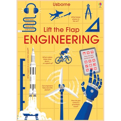 Детская обучающая книга Usborne Lift the Flap Engineering (с вкладышами)