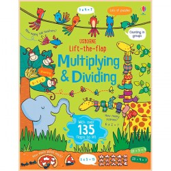 Детская обучающая книга Usborne Lift the Flap Multiplying and Dividing (с вкладышами)