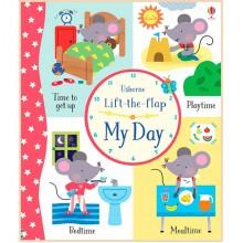 Детская обучающая книга Usborne Lift the Flap My Day (с окошками)