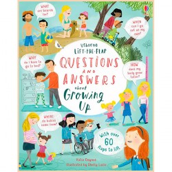 Детская познавательная книга Usborne Lift-the-Flap Questions and Answers about Growing Up