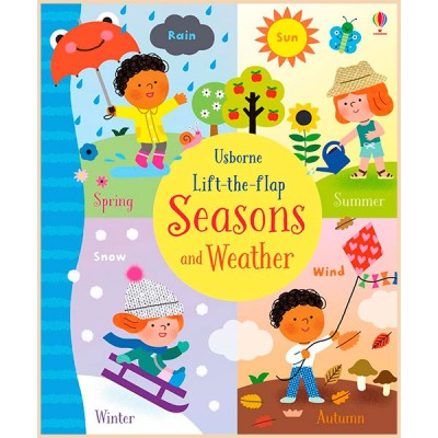 Детская обучающая книга Usborne Lift-the-Flap Seasons and Weather (с окошками)