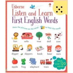 Детская книга со звуковыми эффектами Listen and Learn First English Words