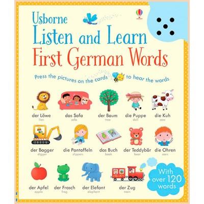 Детская книга со звуковыми эффектами Usborne Listen and Learn First German Words