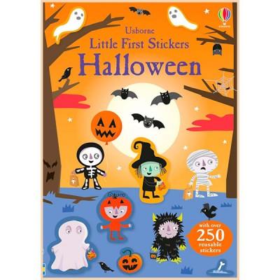 Детская книга со стикерами Usborne Little First Stickers Halloween
