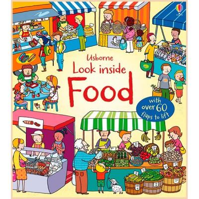 Детская познавательная книга Usborne Look Inside Food