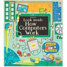 Детская познавательная книга Usborne Look Inside How Computers Work