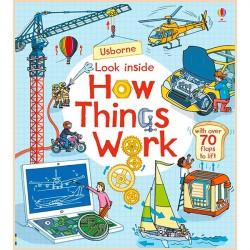 Детская познавательная книга Usborne Look Inside How Things Work