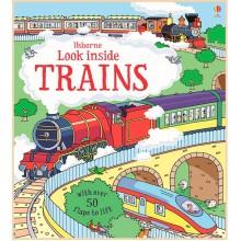 Детская познавательная книга Usborne Look Inside Trains