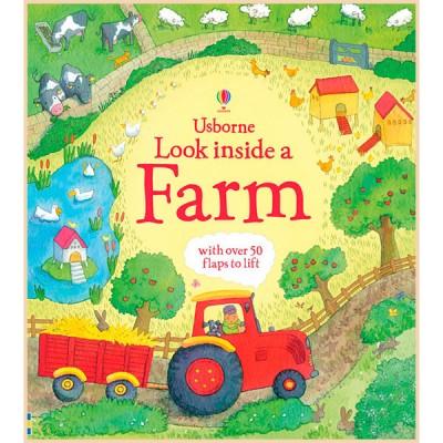 Детская познавательная книга Usborne Look Inside a Farm