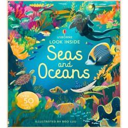 Детская познавательная книга Usborne Look Inside Seas and Oceans