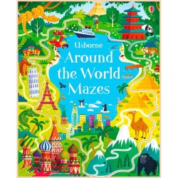 Детская книга Usborne Around the World Mazes