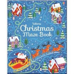 Детская книга Usborne Christmas Maze Book