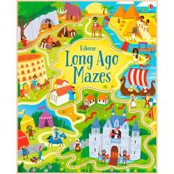 Детская книга Usborne Long Ago Mazes