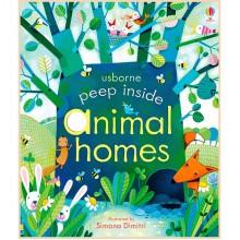Детская книга Usborne Peep Inside Animal Homes (с окошками)