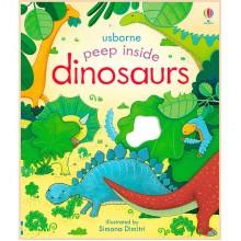 Детская книга Usborne Peep Inside Dinosaurs (с окошками)