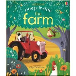 Детская книга Usborne Peep Inside the Farm (с окошками)