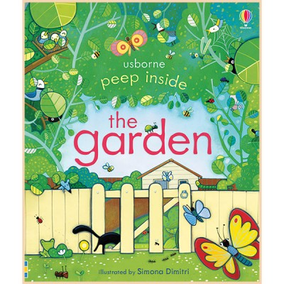Детская книга Usborne Peep Inside the Garden (с окошками)