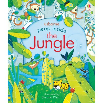 Детская книга Usborne Peep Inside the Jungle (с окошками)